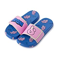 BT21 is a globally beloved character of millennials Mutiple Characters Available Comfortable and Fancy BT21 Velcro Slippers Material - Outsole: EVA, Strap: PU, Polyester We are the authentic, one-and-only seller and distributor of Line Friends and BT...