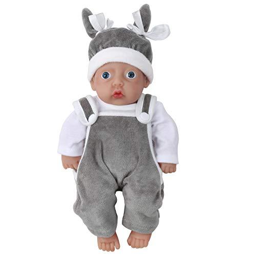 Vollence Bambola Reborn realistica da 28 cm,Bambole di Silicone Reali riempite con Silicone Platino, Bambola Reborn Robusta, Bambola di Silicone Fatta a Mano, Bambola Bambino realistica - Ragazzo