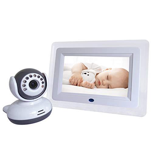 CHAN Wireless Baby Monitor 7-Zoll-720P HD-Schirm-Nachtsicht-Intercom Lullaby Nanny Video-Baby-Schlaf-Monitor Unterstützt Bildschirm-Switch