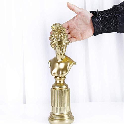 Escultura De Resina De Piedra Arenisca, Figuras Coleccionables, Decoración De Escritorio, Estatua De Diosa Europea, Decoración, Escultura De Personaje De Resina Natural,Regalo Creativo