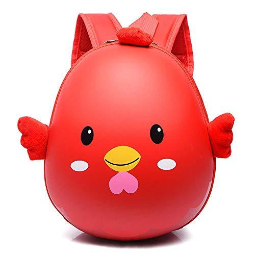 Borsa da viaggio Small Eggshell, zaino per bambini maschi e femmine, borsa scuola Kindergarten, borsa a spalla per bambini, 2-6 anni vecchia borsa di marea Rosso
