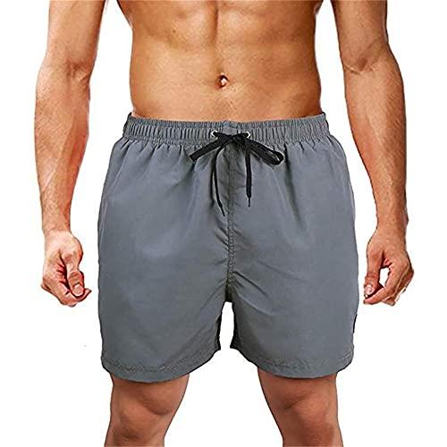N\P Pantaloncini Estivi Pantaloni Uomo Casual Home Stay Uomo Running Pantaloncini Sportivi, grigio, L