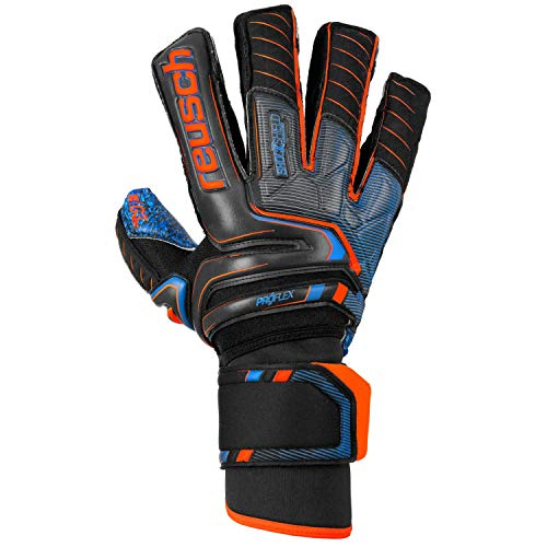 Reusch Herren Attrakt G3 Fusion Ortho-tec Goaliator Torwarthandschuhe, Black/Shocking orange/deep Blue, 9