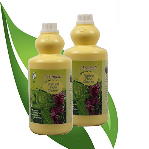 Aromeds Natural Floor Cleaner (Liquid) Baby Safe and Pet Friendly with Lemon-Grass Oil (1 Ltr), Pack of 2