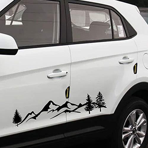 Adesivo auto foresta montagna Adesivo auto foresta PET per SUV RV Camper Adesivi per auto fuoristrada Adesivi per pareti