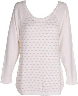 Maison Jules Womens Metallic Knit Pullover Sweater