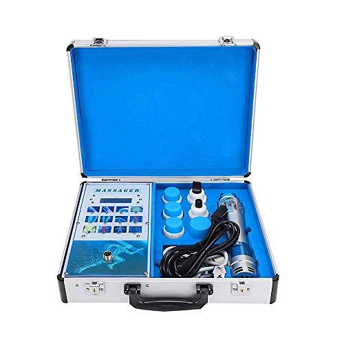 Máquina de terapia de ondas de choque, masajeador corporal eficaz con 7 cabezales de masaje y manual de usuario detallado para aliviar el dolor y masaje muscular profundo