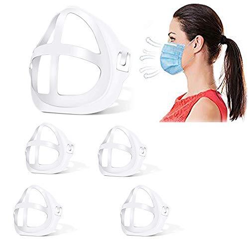 Soporte de máscara, Marco de soporte interno facial 3D para máscara, Marco de soporte facial 3D reutilizable para lápiz labial Protector facial protector Cómodo soporte (Soporte para máscara 5pcs)