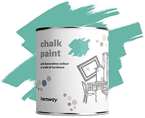 Hemway Kreidefarbe in Hellblaugrün mit mattem Finish für Wand und Möbel, 1 l, Shabby Chic, Vintage, Chalky (mehr als 50 Farben erhältlich)
