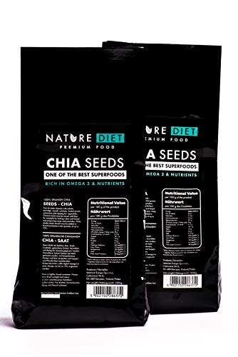 Nature Diet Chia Seeds, 2x 1000 g
