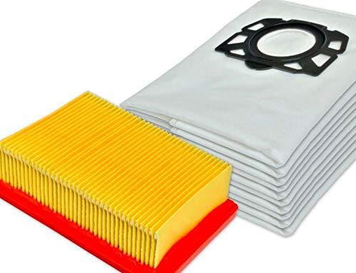 10 bolsas de aspiradora de repuesto con filtro HEPA para Kärcher WD4 WD5 P WD6 P Premium MV4 MV5 MV6 bolsas 2.863-005.0 2.863-006.0 piezas de repuesto accesorios