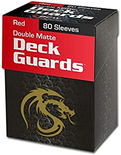 BCW 80 Deck Guard Double Matte Sleeves - Red