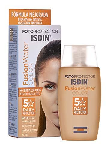 Fotoprotector ISDIN Fusion Water Color SPF 50 50ml   Fotoprotettore viso per uso quotidiano   Texture ultralleggera