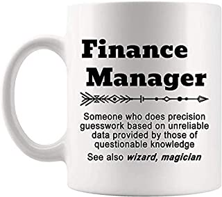 Definition Finance Manager Meaning Mug Present - 11Oz Coffee Cup - Gag Gifts For Men Women T-Shirt Cups Mugs