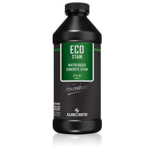 Surecrete EcoStain Water-Based Concrete Stain - 32 Ounce Concentrate (Walnut)