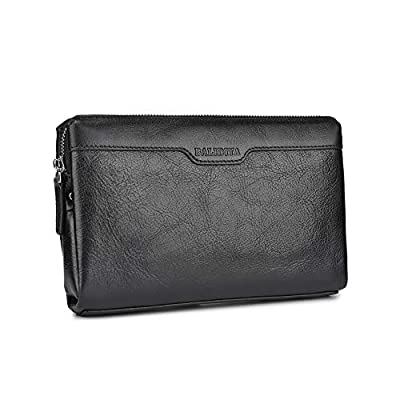 BALIDIYA Men Clutch Bags Genuine Leather Purse Wallet Business Card Organizer Purse 3-F