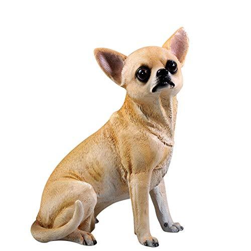 WMHF Estatua Resina Adornos Simulación Decoración para Perros Chihuahua Modelo Resina Artesanía Hogar Sala De Estar Gabinete De Vino Muebles Estudio Oficina Decoración