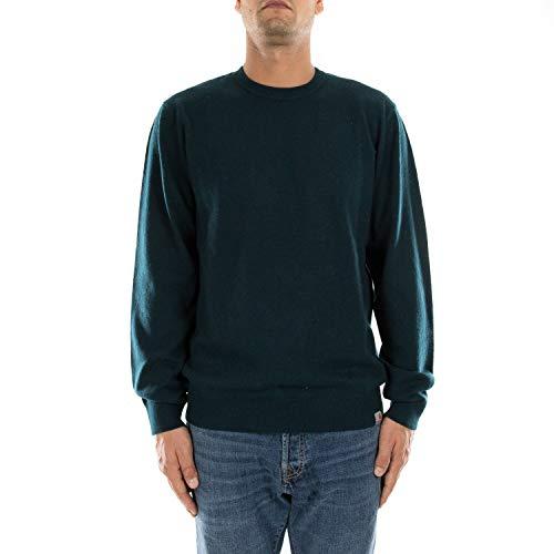 Carhartt I023776 Playoff Sweater Herrenpullover Duck Blue Blue Avio, 3424-mVerde, Grün, 3424-mVerde Medium