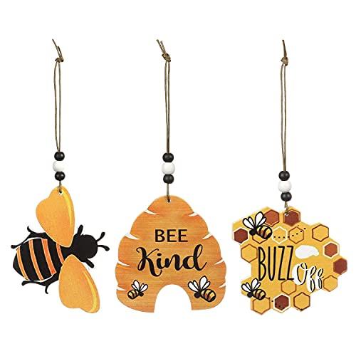 Bee Sign Wooden Bee Art Decoration,