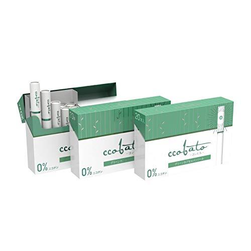 ccobato コバト グリーンカプセルメンソール IQOS互換機 加熱式 (3箱 (1箱 20本入り))