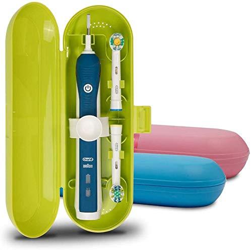 Zahnbürstenkoffer für Oral-B Pro Serie, Kunststoff, 3 Packungen (Blau/Pink/Grün)