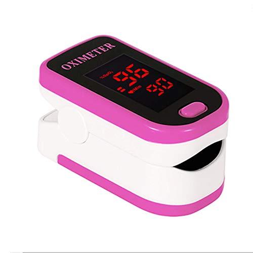 GIYL Handheld-Digital-bewegliche Finger-Pulsoximetrie Saturometro, FingerTIP Pulsoximeter, Finger-Pulsoximeter,Rosa