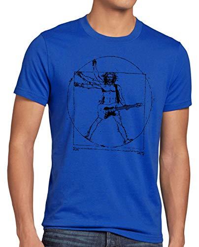 style3 Da Vinci Rock Camiseta para Hombre T-Shirt música Festival, Talla:S...