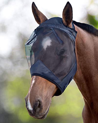 Harrison Howard CareMaster Maschera Anti-Mosche per Cavallo UV Protezione Nero (M; COB)