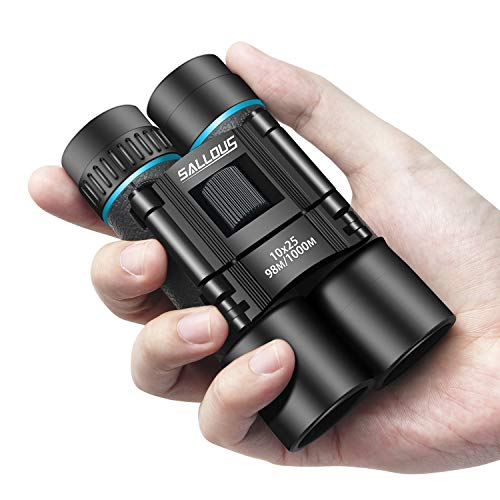 Our #3 Pick is the Sallous 10x25 High Powered Compact Binoculars