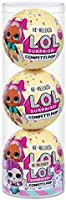 L.O.L. Surprise! Confetti Pop 3 Pack Showbaby – 3 Re-Released Dolls Each with 9 Surpr