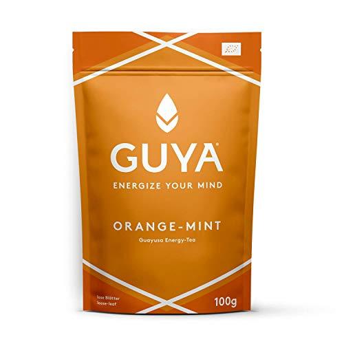 Bio Guayusa Tee lose (Orange-Mint) | 100g für 40 Tassen | Kaffee Alternative ohne Herzrasen | Fokus, Konzentration, Gedächtnisleistung & Ausdauer | Perfekt als Cold Brew