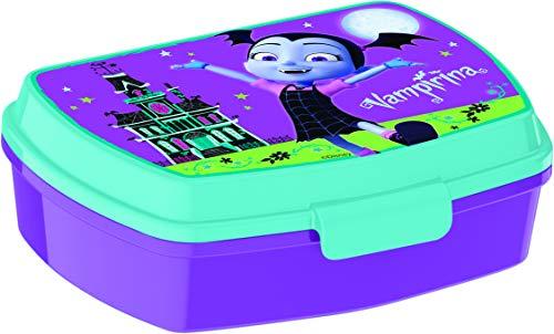 ALMACENESADAN 2060 Sandwichera Restangular Multicolor Vampirina; Producto de plástico; Libre BPA; Dimensiones Interiores 16,5x11,5x5,5 cm