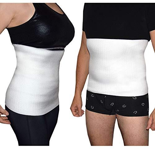 Faja Lumbar Hombre Térmica Faja Reductora Mujer Elástica para Dolor de Espalda, Postparto, Hernia Discal Ciática, Trabajo, Made in Italy (43% Lana, XX-Large)