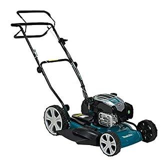 Makita PLM5121N2 Walk behind lawn mower Gasolina Negro, Azul cortadora de césped – Cortacésped (Walk behind lawn mower, 2200 m², 51 cm, 2,5 cm, 7 cm, 1 L)