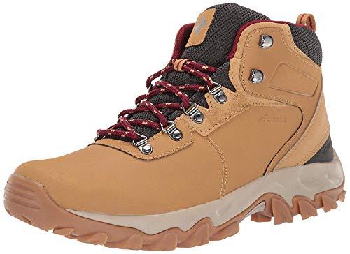 Columbia mens Newton Ridge Plus Ii Waterproof Boot Hiking Shoe, Curry/Red Jasper, 8.5 Wide US