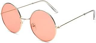 ALWAYSUV Round Small Flat Sunglasses Circle Vintage John Lennon Glasses