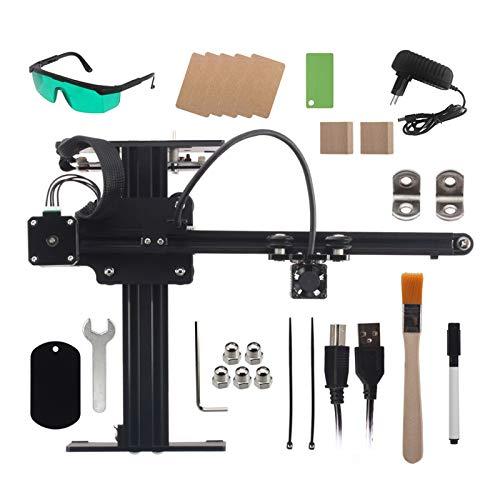 robots master 7000mw Desktop Engraver cnc router Portable Engraving Carving Machine Mini Carver DIY Logo Mark Printer cnc (Color : EU Plug)