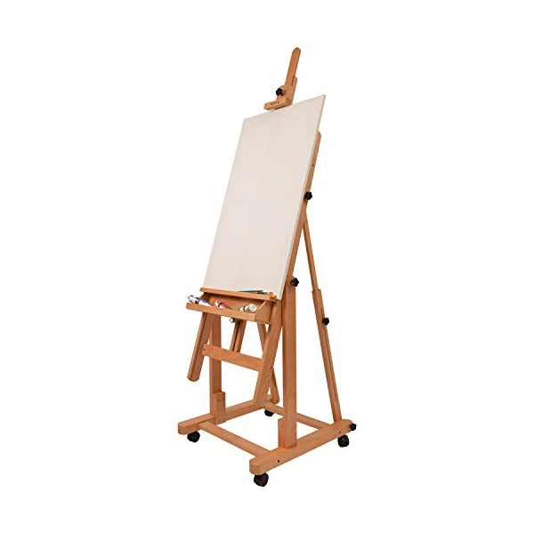 Artina Verona - Caballete de pintura profesional de estudio - Con ruedas - Madera de haya maciza