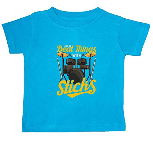 inktastic Drummer Funny Drum Music Quote Baby T-Shirt 24 Months Turquoise 39845