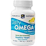 Nordic Naturals - Daily Omega, Brain and Visual Fuction, 30 Soft Gels