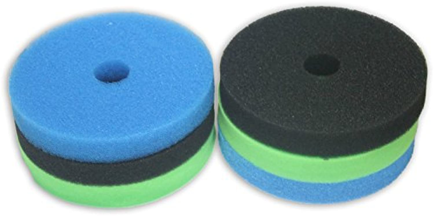 LTWHOME Foam Sponge Filter Set Fits Hozelock Bioforce 9000   18000 Filter (Pack of 2 Set)