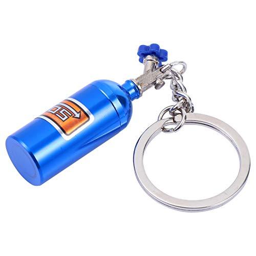 Wakauto 2 Piezas Mini Llavero de Botella de Óxido Nitroso con Luz Led Nos Llavero de Coche de Gas Llaveros Moda Turbo Botella de Refuerzo de Nitrógeno Llavero Llaveros para Llaves de