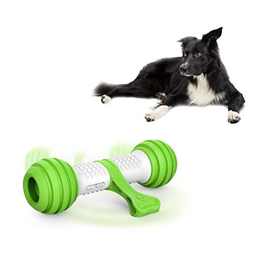 PETGEEK Automatic Dog Bone Toy, Smart Interactive Pet Toys for boredoms, Electronic Dog Self Entertainment Toy, Safe & Durable Material