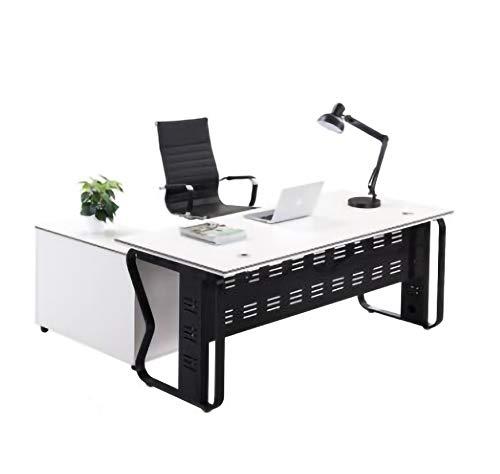 AIYIFU Mesa,Escritorio de Oficina, Escritorio de Trabajo con Estación de Trabajo de Escritura de Oficina de Fácil Montaje de Estilo Moderno y Simple,
