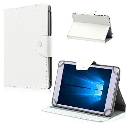 Nauci Tablet Tasche Hülle LG G Pad 2 8.3 LTE Case Universal Cover Schutzhülle, Farben:Weiß
