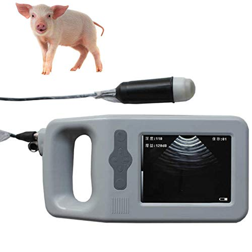 MMUY-1 Ecógrafo Portátil para Cerdos, Escáner De Embarazo con Sonda Impermeable De 3,5 MHz, Herramienta Veterinaria para Granja
