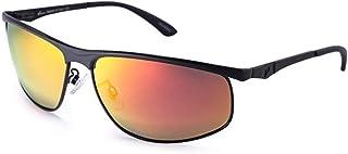 SGJFZD Men's HD UV400 Polarized Sunglasses Resin Frame Sunglasses Fashion Color Shade Mirror (Color : Orange)
