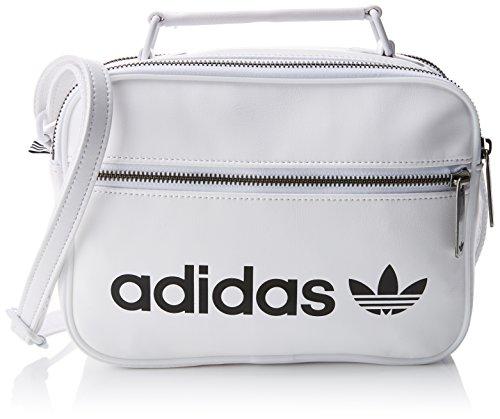 adidas Mini AIRL Vint Bolso Bandolera, Unisex Adulto, Blanco (Blanco), 24x15x45 cm (W x H x L)