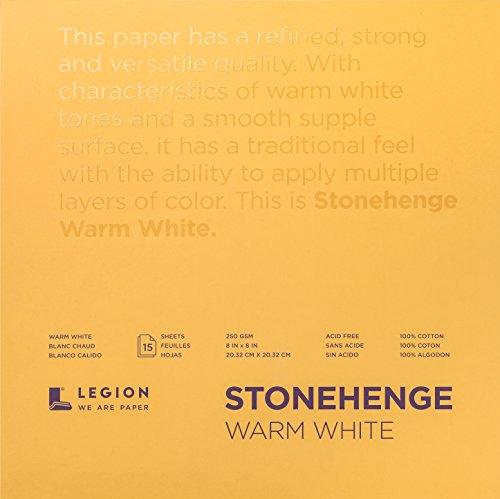 Stonehenge L21-STP250WW88 STONEHANGE Papier 8X8 WARM WHITE, Warmweiß 22,6 kg, Einheitsgröße