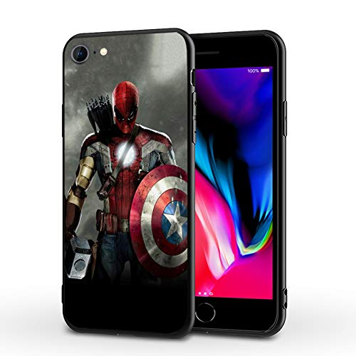 MHCOM iPhone 7 Case iPhone 8 Case iPhone SE 2020 Case Endgame Comic Design Cover Cases for iPhone 7/8/SE2 4.7' (Avengers-Mix)